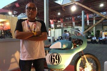 Sama-sama mejeng di IIMS, motor modifikasi Gibran tak kalah pamor dengan Jokowi