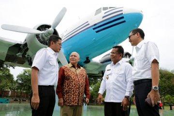 Pemugaran monumen pesawat pertama Indonesia
