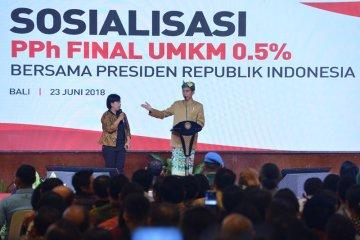 Presiden sosialisasi PPh final UMKM