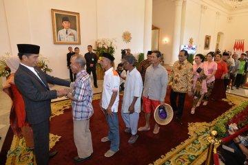 Presiden Joko Widodo silahturahmi lebaran dengan masyarakat