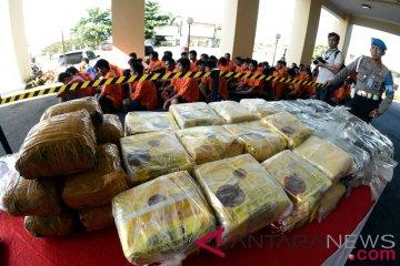 Hasil operasi antik Polda Lampung