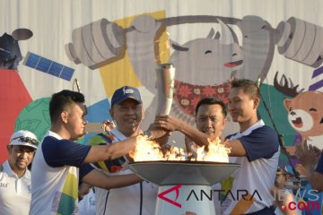 Pawai obor Asian Games GWK