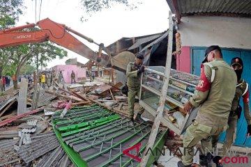 Penggusuran Pasar Sukarame di Bandar Lampung