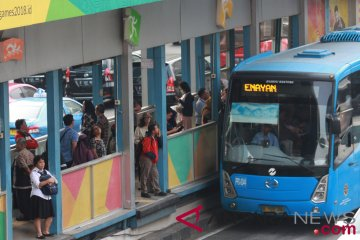 Penumpang bus Transjakarta meningkat