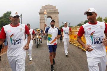 Pawai Obor Asian Games di India