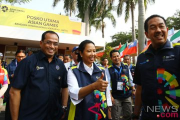 Tinjau Posko Asia Games Soekarno Hatta