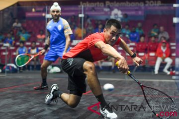 Squash Beregu Putra Penyisihan Indonesia vs India