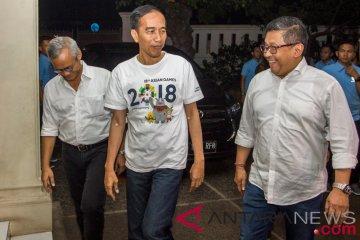 Jokowi Rapat Tim Pemenangan Pilpres