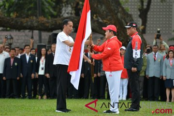Presiden Melepas Kontingan Asian Games