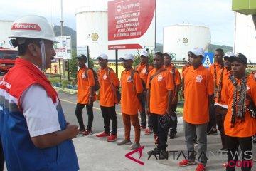 BUMN Hadir - SMN Papua Kunjungi Pertamina Sabang