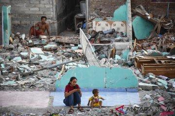 Jumlah Warga di Pengungsian Gempa Lombok
