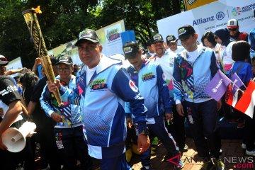 Pawai Obor Asian Para Games 2018 di Medan