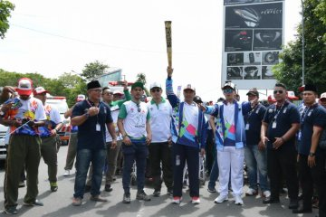 Torch of Asian Para Games 2018 arrives in West Kalimantan