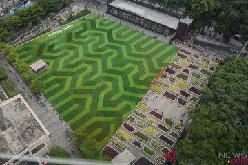 Wajah Baru Alun-alun Bandung