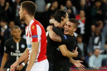 Liga Champions: PSG Kalahkan Red Star Belgrade  6-1