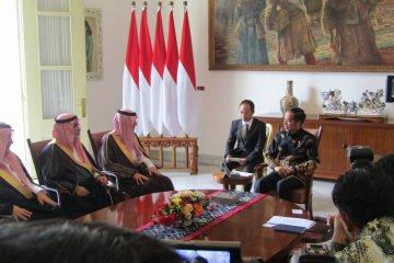 Presiden Jokowi terima kunjungan Menlu Arab Saudi