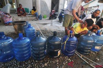Kebutuhan Air Bersih Pengungsi Gempa Palu-Donggala