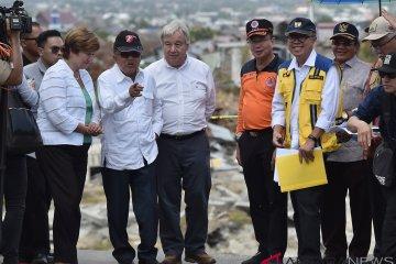 Wapres dan Sekjen PBB Kunjungi Lokasi Gempa Palu