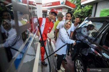 Pantau harga BBM, Dirut Pertamina sidak ke SPBU