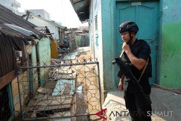 Pengamanan Lokasi Teroris di Sibolga