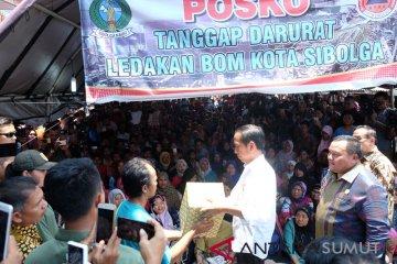 Presiden Serahkan Bantuan Dampak Bom Sibolga