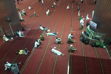 Jemaah terus berdatangan ke Istiqlal untuk takbiran