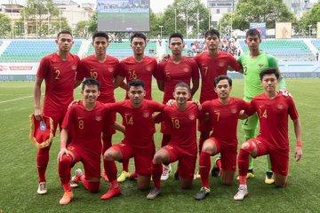 Indonesia tahan China tanpa gol pada babak pertama