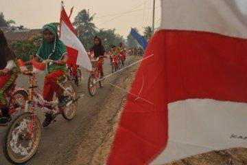 Sepeda hias HUT Kemerdekaan RI