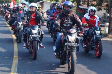 """56 komunitas Honda motor rayakan HUT RI dengan """"Konvoi Merdeka"""""""