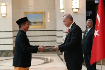 "Dubes RI serahkan surat kepercayaan, Erdogan sebut Jokowi ""saudaraku"""