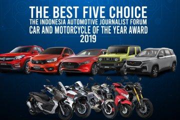 Lima finalis mobil dan motor terbaik 2019