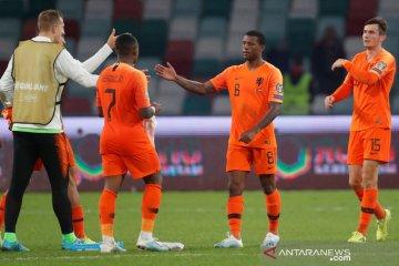 Belanda pesta lima gol ke gawang Estonia tutup fase kualifikasi