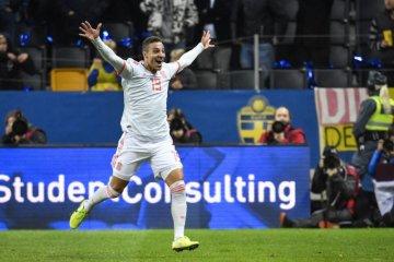 Spanyol lolos ke putaran final Piala Eropa 2020 usai imbangi Swedia