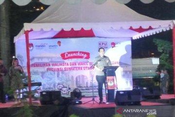 KPU Medan melaunching Pilkada Medan 2020