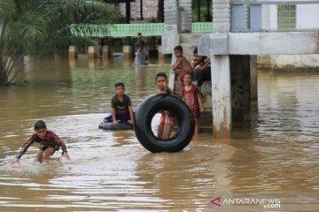 Banjir akibat intensitas hujan yang tinggi di Aceh