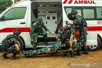 Simulasi Evakuasi Satgas Pamtas RI - PNG