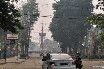 Kabut asap kembali selimuti Kota Jambi