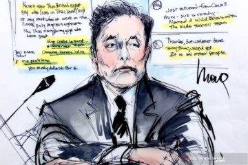 Pendiri Tesla Elon Musk hadiri sidang pencemaran nama baik