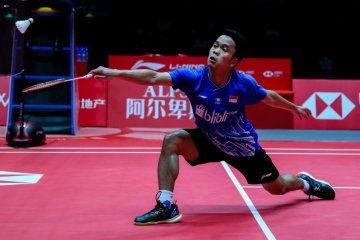 Kalahkan Chen Long, Anthony Ginting rebut tiket final BWF World Tour Finals