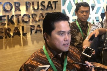 Erick Thohir jelaskan proyek Mahaka Media Group di Garuda