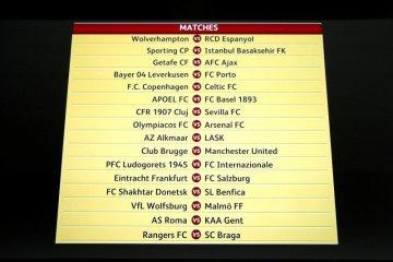 Hasil pertandingan leg pertama putaran 32 besar Liga Europa