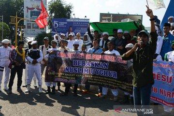 Aksi solidaritas muslim Uighur