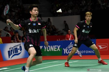Final Indonesia Masters 2020, Indonesia pastikan gelar ganda putra