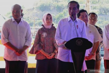 Presiden Jokowi resmikan kawasan Marina Labuan Bajo