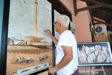 Lukisan Monas dari cangkang telur untuk kontroversi revitalisasi