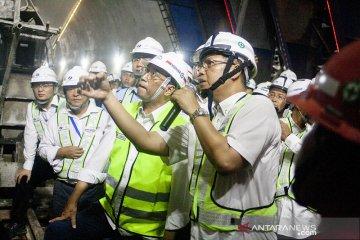 Menhub tinjau proyek Kereta Cepat Tunnel 4