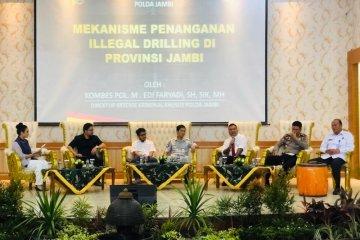 Direskrimsus Polda Jambi paparkan penanganan ilegal driling