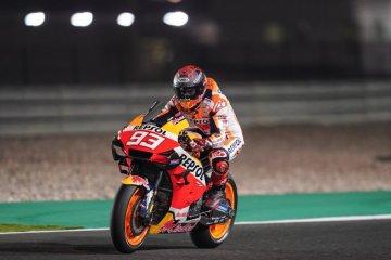 Marquez belum pulih dari cedera bahu membuatnya lebih kewalahan di Qatar