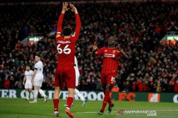 Liverpool hentikan perlawanan sengit West Ham dengan skor 3-2