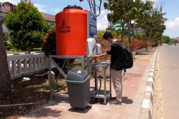 Ada 18 tempat cuci tangan di ruang publik Batam